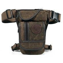 Nam Vintage Thả Chân Túi Hông Nữ Đùi Dây Đeo Hông Bum Quân Sự Chiến Thuật Du Lịch Cho Xe Máy Nylon/Vải Bố Đi Xe eo Túi