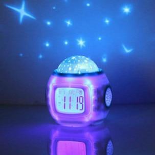 Sky Star Night Music звездное небо цифровой светодиодный проектор будильник, календарь, термометр
