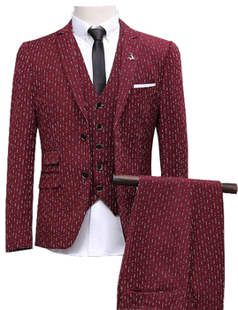 Men Suits Slim Fit men's Wedding Suits With Pants Business Mens Formal Wear High quality  (Jacket+Vest+Pants) jacket vest pants shirt bow tie boy slim fit suits plus size 3 14t boys gray wedding suits with pants business boys formal wear