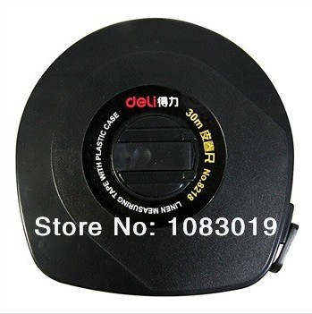 купить New valuable Deli 8218 30m leather measuring tape ruler (black) top brand stationary super deal