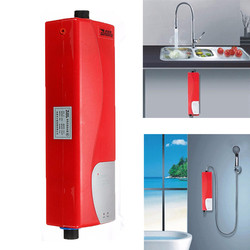 Electric Tankless Water Heater Instant Shower 220V 3000W ABS Household Water Heater for Indoor Kitchen Bathroom Water Heater