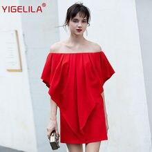 Yigelila/Новейшая Весенняя мода женское платье трапециевидной