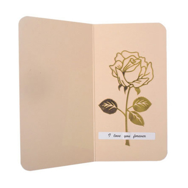 BLEL Hot 1 Set Luxury Metal Rose Flower Bookmarks & Greeting Cards Chancery School Office Accessories Tab for Books Stationery