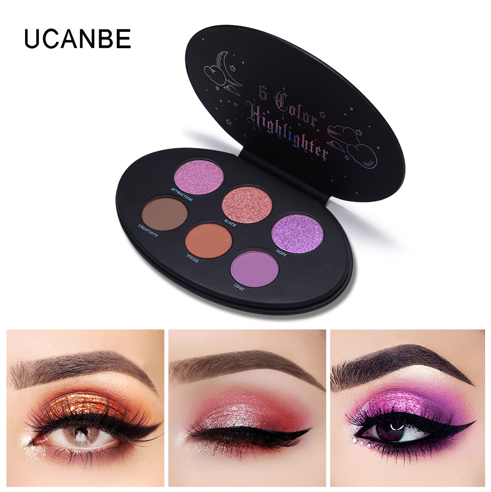 UCANBE New Kvd 6 Color Elliptical Highlights Repair Capacity Blush Matte Pearlescent High Light Repair Capacity Blush in Blush from Beauty Health