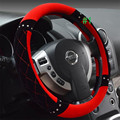 Free Shipping Diamond sheep wool women steering wheel cover luxury jewellery gift soft men car steering wheel cover lzh