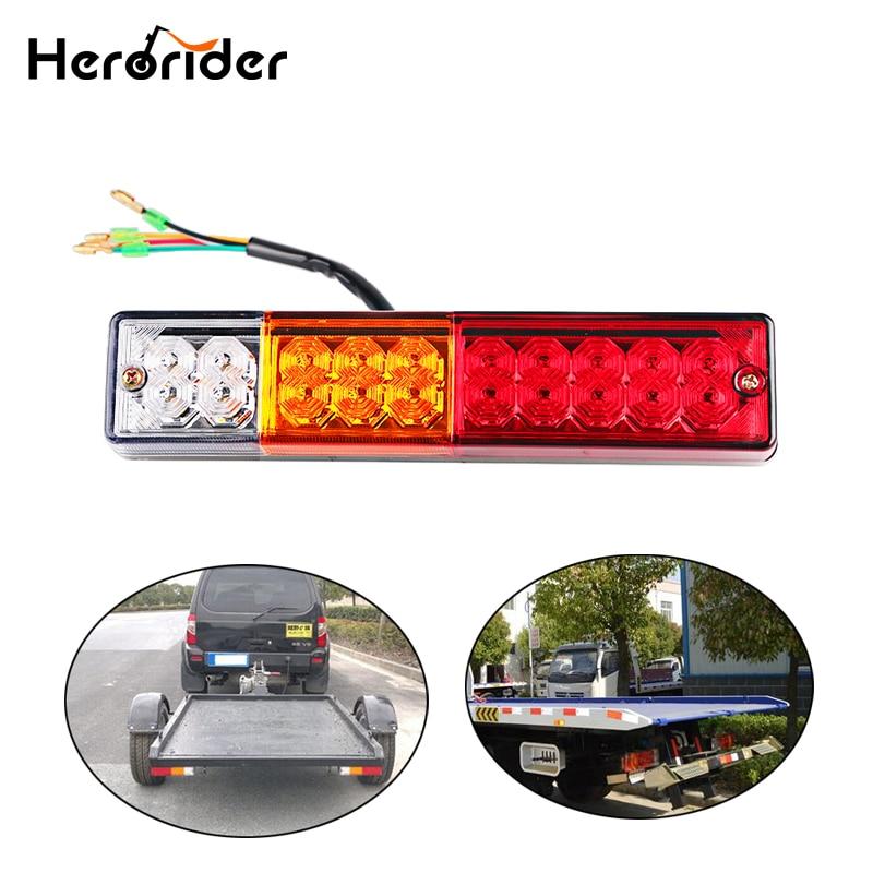 Truck Light System Waterproof 20leds Atv Trailer Truck Led Tail Light Lamp Yacht Car Taillight Reversing Running Brake Turn Lights 12v