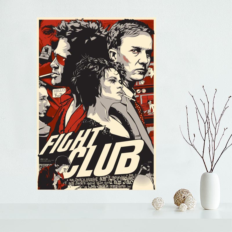 Custom canvas poster Fight club canvas painting poster New arrival wall Art poster Fabric Cloth Print