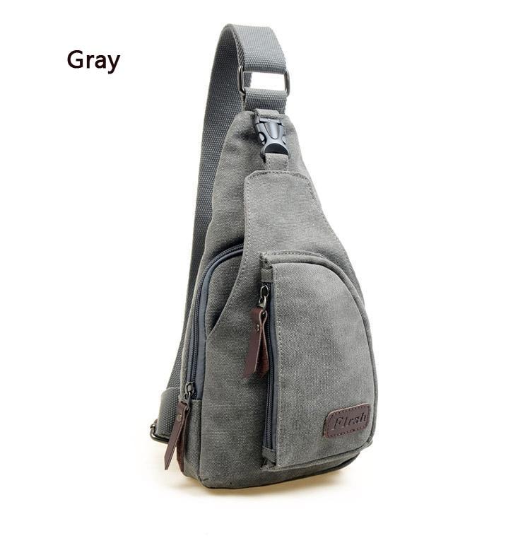 Men Retro Canvas Backpack Satchel Cross Body Messengers Shoulder Bag Travel Bags