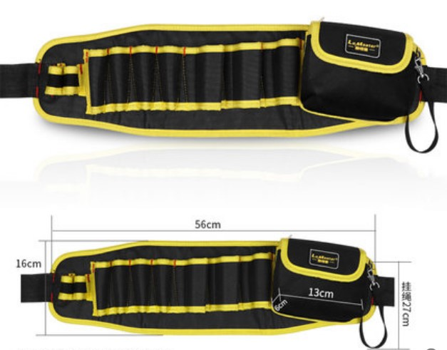 CAMMITEVER Multi pockets Tool Bag Waist Electrician Tool Bag Organizer Pouch Tools Bag Organization Belt Waist Pocket 56 16cm in Tool Bags from Tools