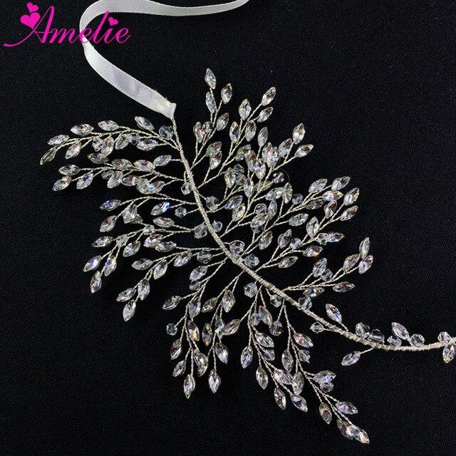 Stunning Silver Plated Wire Wedding Hair Vine Marquise Stone Bridal Headband  Party Headpiece Bridal Accessories Headband faa23029e04b