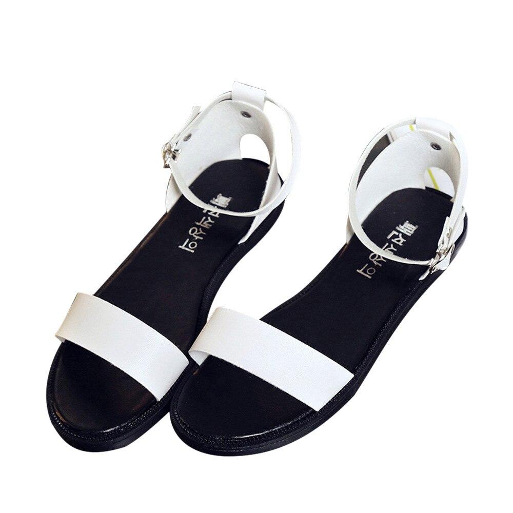 Sandals and shoes wholesale - 2017 Hot Sale Summer Sandals Women Flat Fashion Sandals Comfortable Ladies Shoes Wholesale China