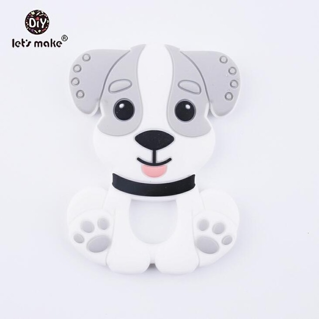 Let's Make Silicone Teething Accessories BPA Free 10pc Silicone Dog Can Chew Baby DIY Jewelry Nursing Necklace Pendant
