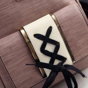 Image 5 - Amberler plecaki damskie ze skóry PU wysokiej jakości torby szkolne dla nastoletnich dziewczęca torba podróżna nowe damskie torby na ramię 3 sztuki