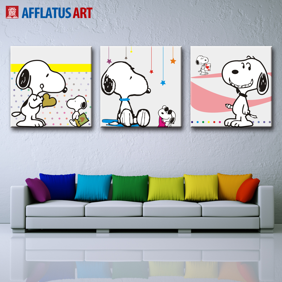 inspiracin nrdica kawaii animal pared pintura acuarela cuadros decorativos cartel de la lona pared cuadros para