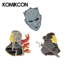Game of Thrones Metal Pin Brooches Nights King Daenerys Targaryen Jon Snow Cartoon Character Lapel Backpack Bags Hat Badge