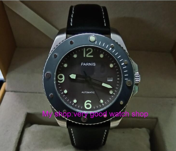 43m PARNIS Japanese Automatic Self-Wind movement men's watch sapphire glass Rotating bezel Mechanical watches luminous gd211A 40mm parnis black dial sapphire glass asian automatic self wind mechanical movement men s watch mechanical watches g56