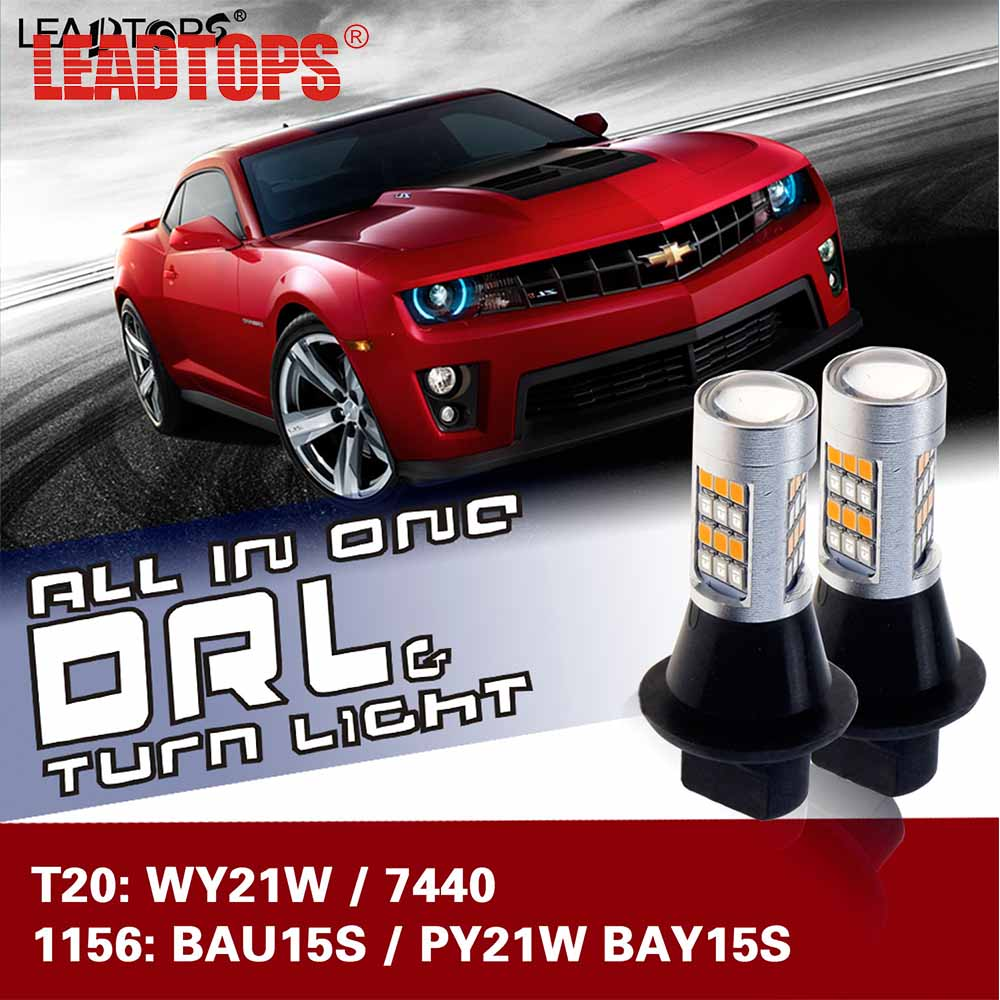 LEADTOPS Canbus BA15S (1156) DRL LED 1156 ba15s s25 p21w Car Led Light Brake Tail Turn Signal Light Bulb 12V 24V White 6000K DE wljh 2x canbus led 20w 1156 ba15s p21w s25 bulb 4014smd car lamp drl daytime running light for volkswagen vw t5 t6 transporter