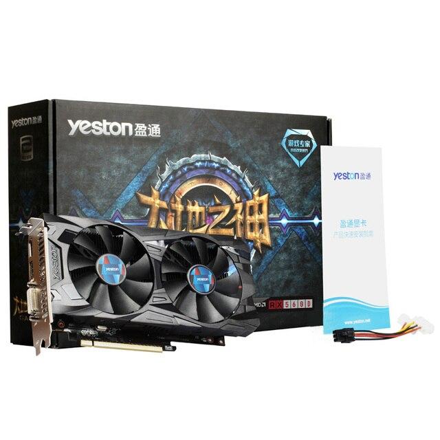 Yeston Radeon RX 560D GPU 4GB GDDR5 128 bit Gaming Desktop computer PC Video Graphics Cards support DVI/HDMI 5