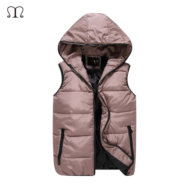 Winter Warm vest Men 2016 Men's fashion casual Solids sweatshirt Men Hoodies vests Man Down sleeveless jacket waistcoat Big Plus