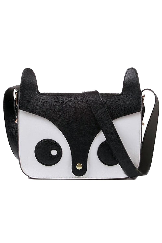 Wholesale 5*Leisure fashion black female bag single shoulder slope blasting in across the small fox