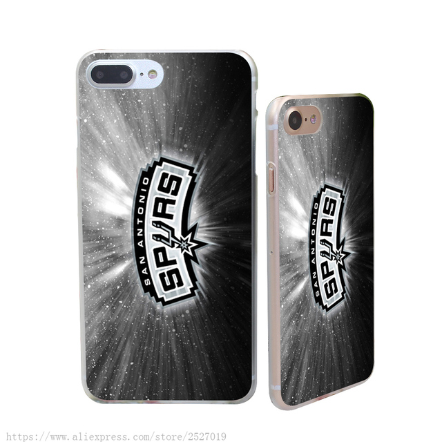 3962HF san antonio spurs logo Hard Case Transparent Cover for iPhone 6 6s & plus 7 7 plus 5 5s se 5c 4 4s