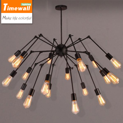 2016 Sale Pendant Light Pendant Lights Nordic Individual Design Iron Spider Chandelier Retro Edison Telescopic Loft Living Room vintage clothing store personalized art chandelier chandelier edison the heavenly maids scatter blossoms tiny cages