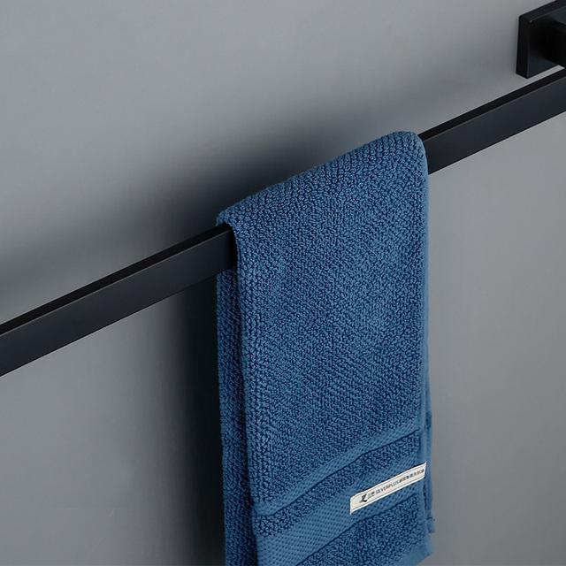 Bathroom Hardware Set Black Robe Hook Towel Rail Bar Rack Bar Shelf Tissue Paper Holder Toothbrush Holder Bathroom Accessories