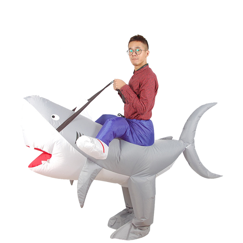 Inflatable Shark Costume Blow Up Animal Zoo Adult Fancy Dress Unisex Carnival Purim Novelty Shark Onesie Cosplay Suits Halloween-in Boys Costumes from ...  sc 1 st  AliExpress.com & Inflatable Shark Costume Blow Up Animal Zoo Adult Fancy Dress Unisex ...