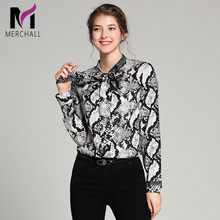 Top Brand Fashion Runway Blouses and Shirts 2019 Spring New Designer Long Sleeve Vintage Baroque Print Womens Tops Office Blouse