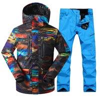 Для мужчин лыжный костюм сноуборд куртка брюки Термальность костюм уличная спортивная одежда ветрозащитные Водонепроницаемый женский Кос