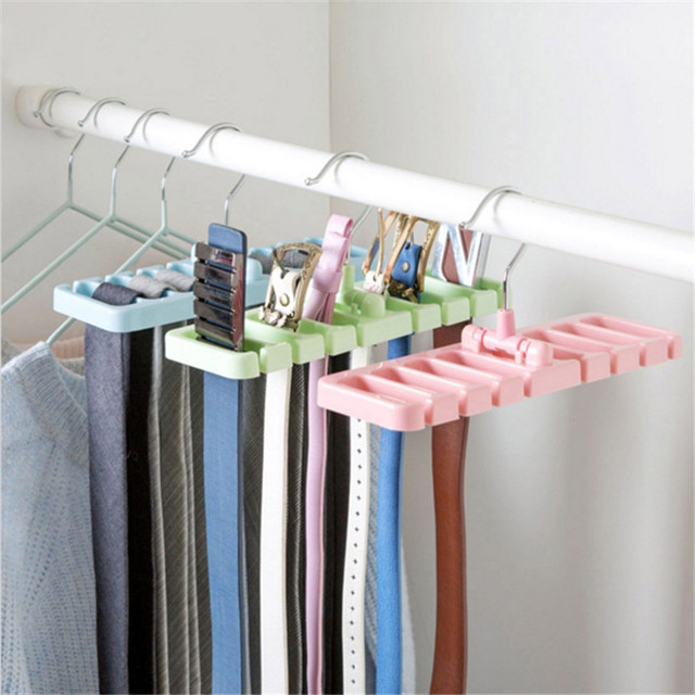 Storage Rack Tie Belt Organizer Space Saver Rotating Scarf Hanger Holder  Hook Closet Organization Tank Tops