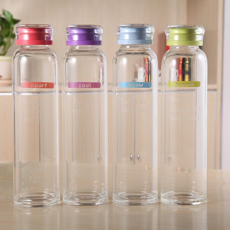 New Arrive Slim Design Dream Water Bottle Brief English Pattern Sport Bottle High Quality Portable Glass Bottle Water Bottles     - AliExpress