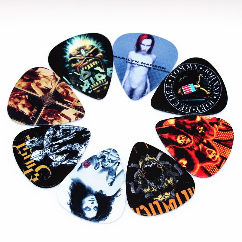 SOACH 50pcs Bass Guitar Picks Pick Plucked Instrumento Accessories Guitar / Acoustic Guitar Ukulele Parts Deep Purple Band