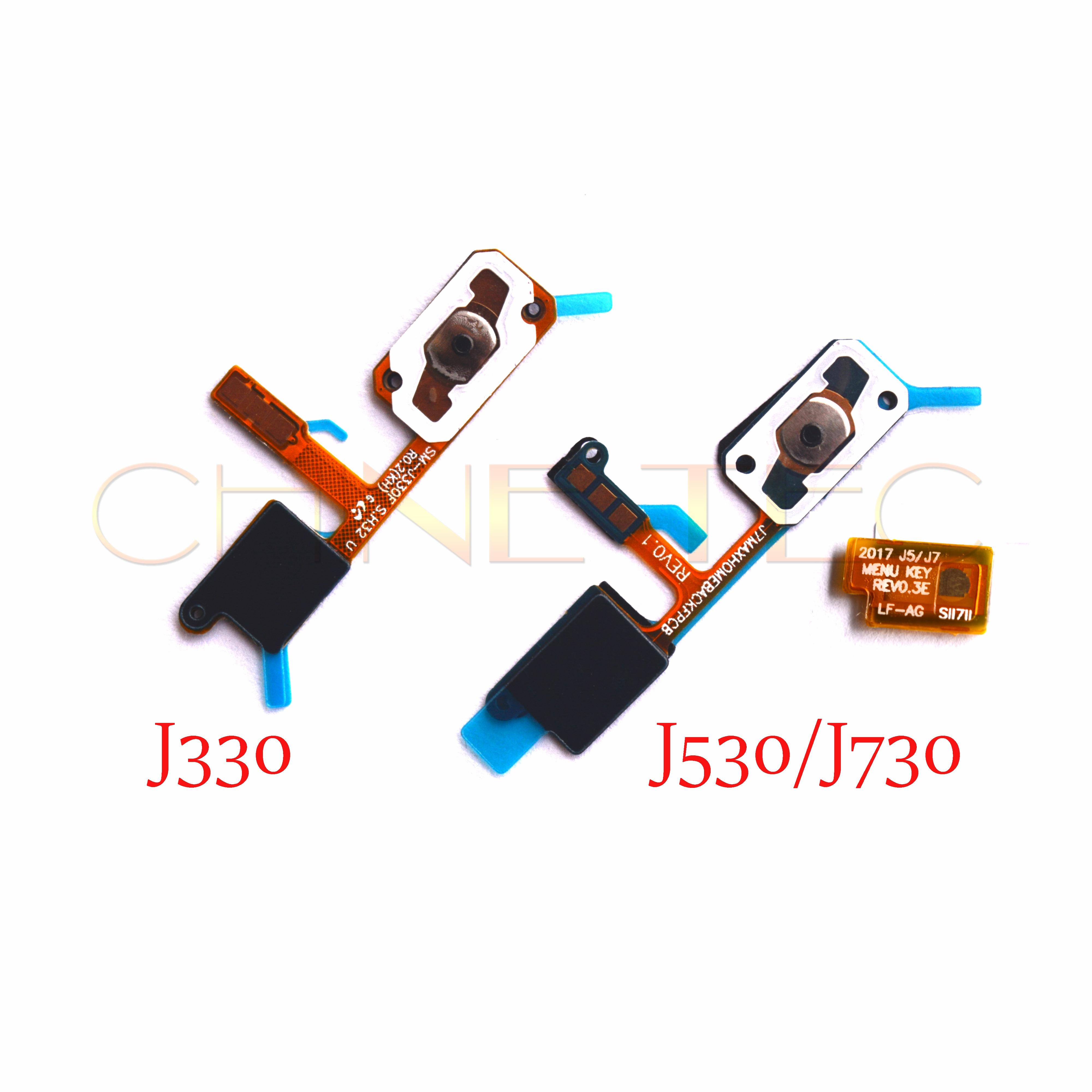 10 Pièces Accueil Bouton Clé Retour Lumière Capteur Menu Keyborad Flex Pour Samsung Galaxy J3 J5 J7 Pro 2017/j7 Max/j330 J530 J730 G615