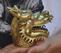 wedding decoration China brass Feng Shui auspicious Dragons Loong Dragon head Zodiac animal statue