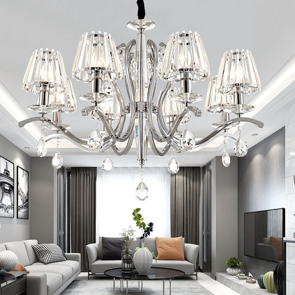 Modern K9 Crystal Chandeliers LED Lustre Design 3/5/6/8 Lights Crystal Chandelier 110- 220v Living Room Chandeliers Luminaria 20pcs active crystal smd crystal oscillator osc crystal 5032 5 3 2 48 000mhz 48mhz