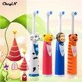 CkeyiN Dos Desenhos Animados Crianças Escova de Dente escova de Dentes Elétrica Para Crianças Elétrica Massagem Escova de Dentes Escova de Dentes Ultra-sônica Cuidados de Higiene Bucal