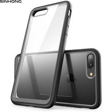 Противоударный Ultra Clear Жесткий Чехол для iPhone 7 7 плюс Чехол тонкий ударопрочный Защитная мягкая ТПУ Силиконовая Резиновый Бампер Fundas