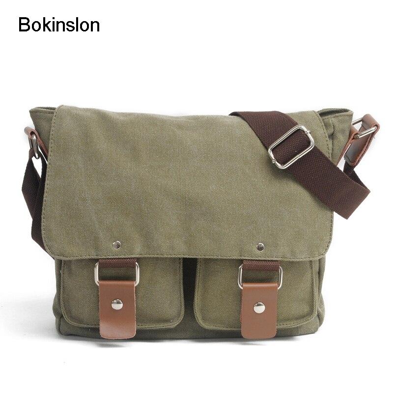 fe0cbaf155cb Bokinslon Crossbody Bag Men Canvas Practical Man Shoulder Bags Simple  Popular Male Crossbody Bags