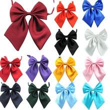 Womens Butterfly Bow Tie Women Cravat Girl Student Hotel Clerk Waitress Neck Wear Silk Ties