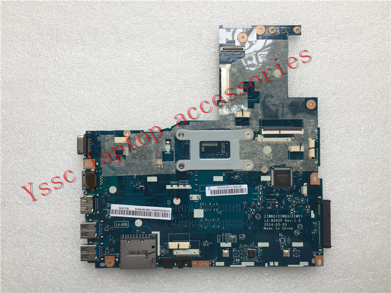 Free Shipping Brand New ZIWB2 ZIWB3 ZIWE1 LA B092P For Lenovo B50 70 motherboard For