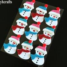 1 пакетов/лот, 3D Блестящий Рождественский Снеговик, пенные наклейки, Рождественская елка, украшение окна, наклейки на стену и холодильник, подарки, игрушки, ремесло, OEM