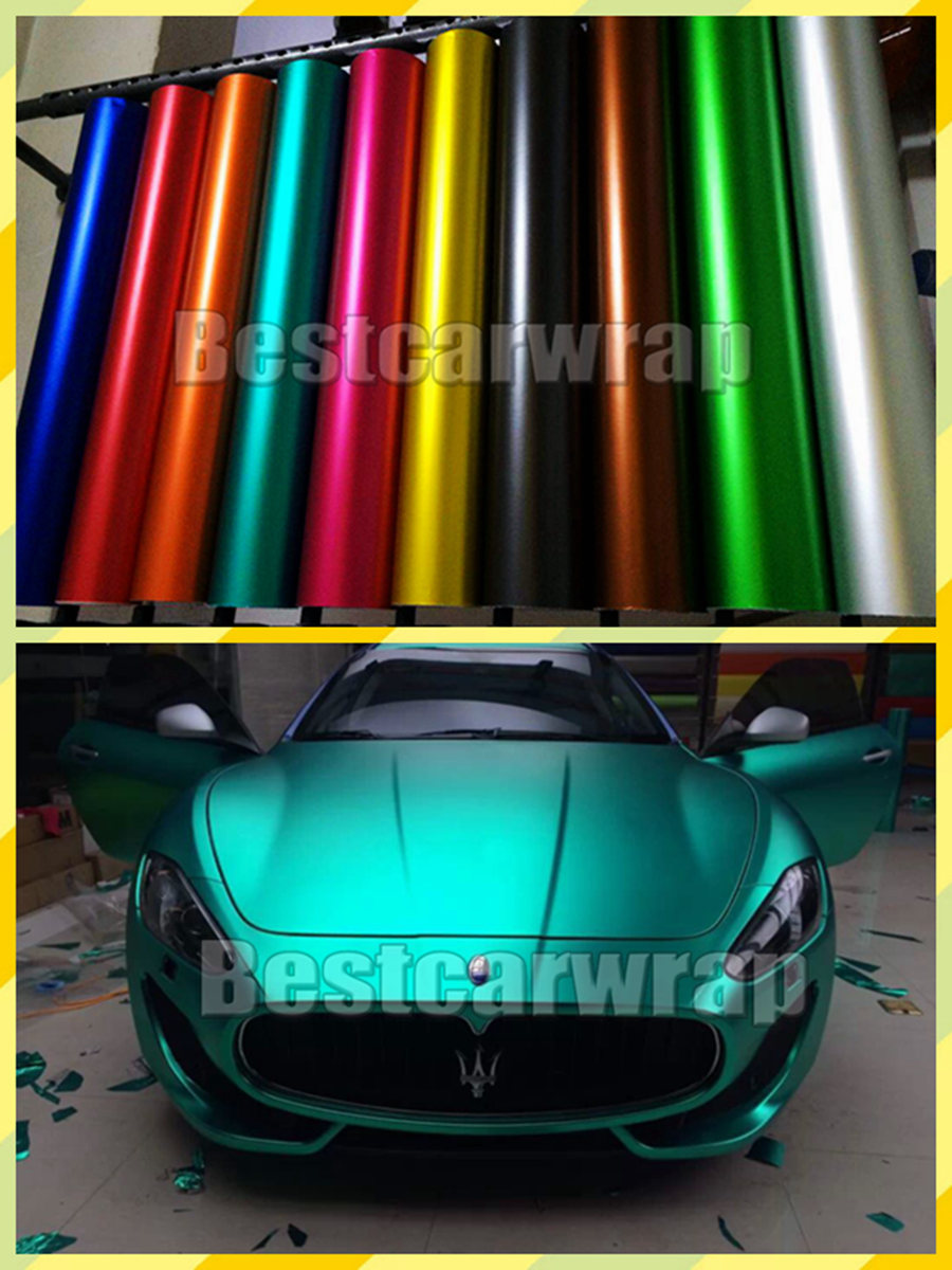 Metallic Matt Chrome Vinyl Car Wrap Film With Air Bubble