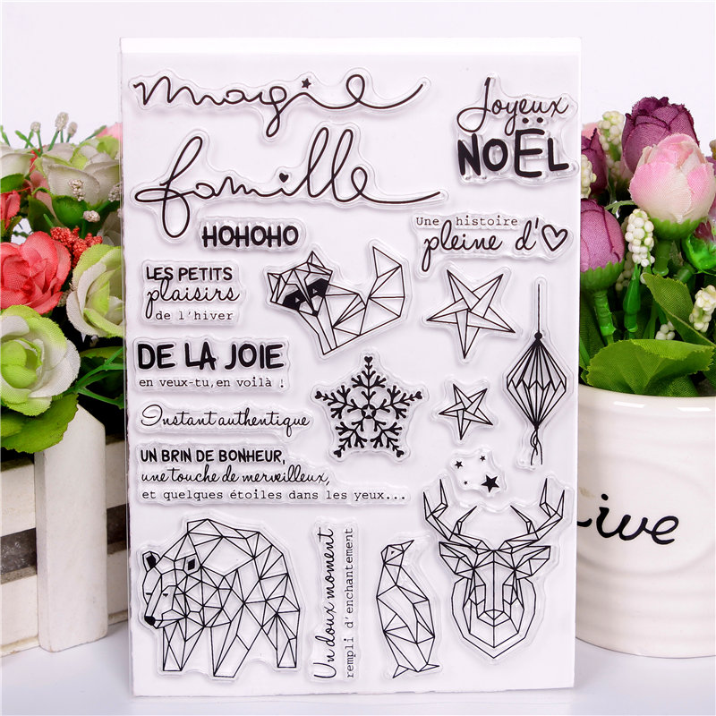 French words Rubber Silicone Clear Stamps for Scrapbooking Tampons Transparents Seal Background Stamp Card Making Diy blessing