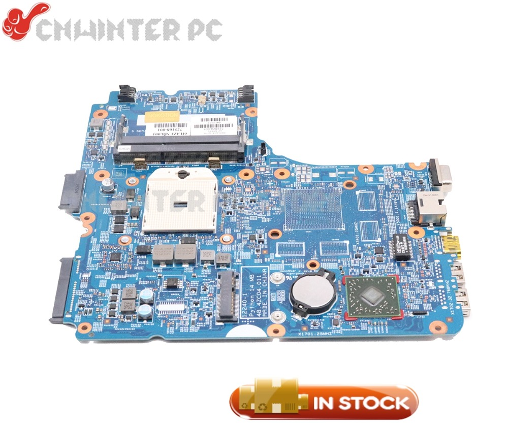 NOKOTION For HP Probook 445 G1 Laptop Motherboard Socket FS1 DDR3 48.4ZC04.011 722824-601 722824-501 722824-001 MAIN BOARD 744010 601 744010 501 for hp 640 g1 650 g1 laptop motherboard 744010 001 6050a2566402 mb a04 qm87 hd8750m mainboard 100% tested