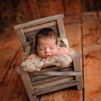 Новорожденных фотографии деревянная кровать реквизит для маленьких девочек и мальчиков близнецов фото для студийной съемки позирует Винт