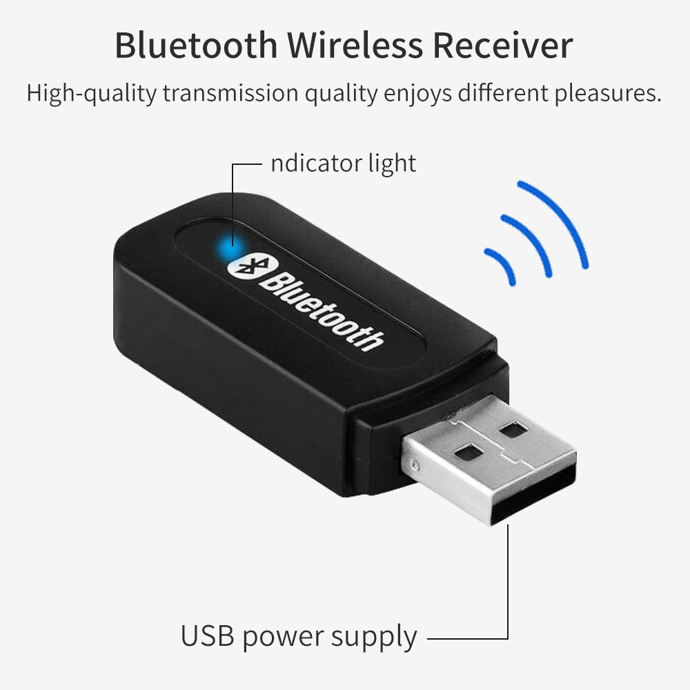 Image 2 - Bluetooth 2.1 Receiver Dongle 3.5mm Jack Wireless Stereo Music Audio Receiver USB Adapter for Car AUX Android/IOS Mobile Phone-in USB Bluetooth Adapters/Dongles from Computer & Office