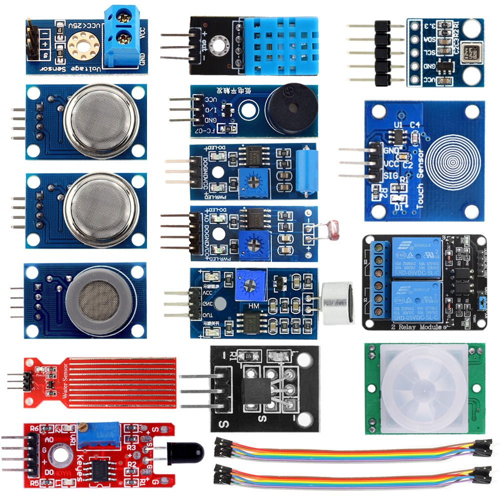 16 in 1 Sensor Modules Project Starter Kits for Arduino Raspberry Pi Smart Home16 in 1 Sensor Modules Project Starter Kits for Arduino Raspberry Pi Smart Home