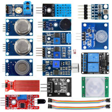 16 in 1 Sensor Modules Project Starter Kits for Arduino Raspberry Pi Smart Home(China)