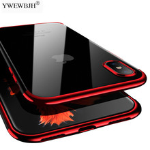YWEWBJH Luxury Soft Cases Cover For Iphone 6 6S 7 8 Plus XS Max XR X All inclusive plating soft cover case